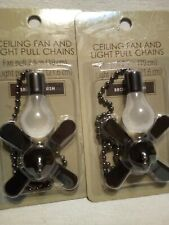 2 7.5 in Ceiling Fan And 8.5 in. Light Pull Chains