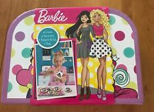 Barbie Metal Tea Set 10 Pcs Cups Saucers Teapot Lids Tray Age 3+  (MCR)