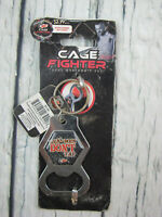 Cage Fighter UFC MMA Real Men Don't Tap Key Chain Bottle Opener CF