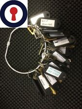 Locksmith tools complete set of 17 Master keys for lockers and files P&P Vat Inc