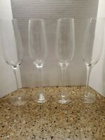 Houdini Hand blown Crystal 8 Oz Champagne Glass Set  Of 4  Lead free ELEGANT!