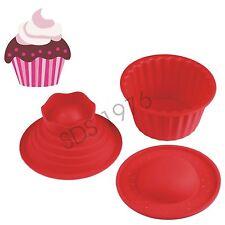 SILICONE MOULD 3PC GIANT JUMBO BIRTHDAY CUPCAKE BAKE BAKING MEGA BIGTOP CUP CAKE
