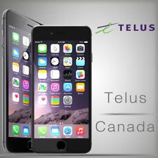 TELUS IPHONE UNLOCK FACTORY 5s 6 6+ 6s 6s+ SE 7 7+ 8 8+ x fast