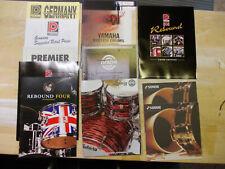 Schlagzeugkataloge, diverse Premier, Ludwig, Sonor, Dixon