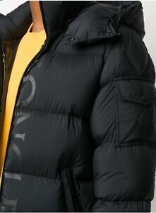 MONCLER Logo Print Down Puffer Jacket Size 5 Current Season