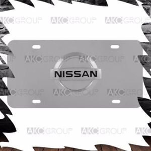 High Quality Stainless Steel 3D Official Nissan Logo License Plate For Universal