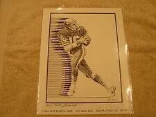 Joe Montana Original Litho 865/949 Signed and Numbered William Burita