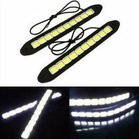 2X 12V LED COB DC Car DRL Fog Driving Daytime Running Lamp Waterproof Turn Light