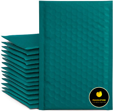 New Listing50pcs Poly Bubble Mailers Self Seal Shipping Bags 4x8 Inch Paddedturquoise Gree