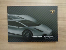 Lamborghini Gallardo and Superleggera Owners Handbook/Manual