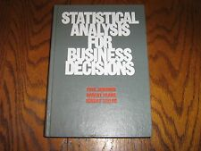 Statistical Analysis for Business Decisions by Taylor/Frame/Jedamus 1976 Hardcvr
