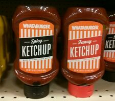 20oz spicy and fancy ketchup Whataburger condiments HEB TX exp 2018