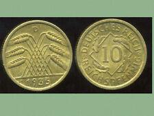 ALLEMAGNE  10 reichspfennig  1935  D   ( 1 )  ( bis )