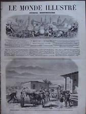 LE MONDE ILLUSTRE 1863 N 307 EXPEDITION DU MEXIQUE