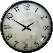 1 inch Crystal Dome Button Clock Face #27 Pastel Flower