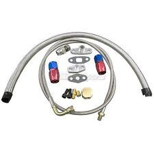 Universal Turbo Oil Line Kit Feed + Return Drain Flange T3 T4 T04E Oil Pan Plug