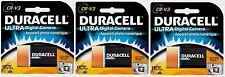 3 NEW!! Duracell Ultra Lithium Camera Battery CRV3 3 volts