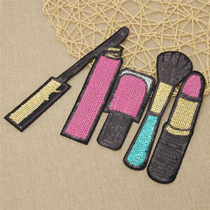 Embroidered Sequin Fabric Cosmetics Patch Iron on Clothes Bag Hat Decoration