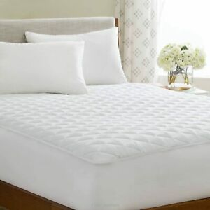 Deep Quilted Bed Sheet Full Fitted Sheets 100% Fabric Bed Cover Double All Sizes