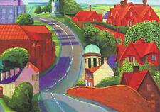 "David HOCKNEY ""The Road to York through Sledmere"" Notecard 17cm x 12cm"