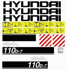 decalcomanie Hyundai robex 110 d7
