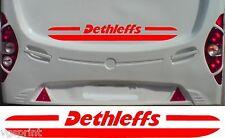 DETHLEFFS CARAVANE CAMPING CAR 2 PIÈCE KIT DÉCALQUES AUTOCOLLANT CHOIX PARMI