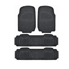 Motor Trend 3 Row SUV 100% Odorless Car Floor Mats fits Honda Pilot - Black