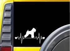 Wheaten Terrier Lifeline Sticker L197 8 inch dog decal