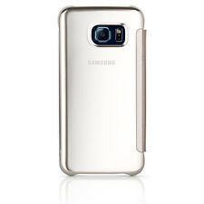 Samsung Galaxy S6 Edge S-View Flip Cover Case - Clear / Mirror OEM Original