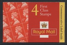 GREAT BRITAIN -1996 MACHIN 4 x 1st 70th BIRTHDAY CYL.W37W45W48 BOOKLET SG.HB11