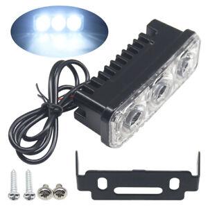 2X LED Daytime Running Light Super Bright Fog Work Lamp Car SUV Universal White