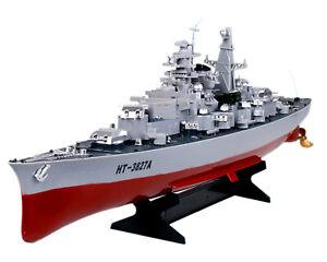 """German Bismarck Battleship 28"""" RC Military Model Boat 1/360 Warship WWII Cruiser"""