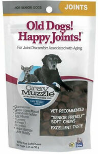 Gray Muzzle Old Dogs Happy Joints by Ark Naturals, 90 Soft Chews