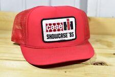 VINTAGE CAP CASE IH INTERNATIONAL SHOWCASE 85 PATCH SNAPBACK TRUCKER MESH HAT