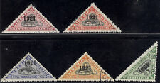 "Liberia 1921 SNAKE registration triangles, all NORMAL ""1921"" used $ #F25-9"