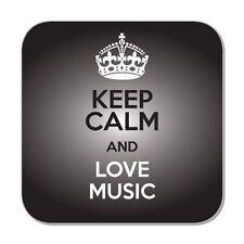 Keep Calm And Love Music Coaster