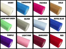 """6"""" SHIMMER SHINE Thread Quality nylon TULLE Roll 25 Yards Choose Color"""