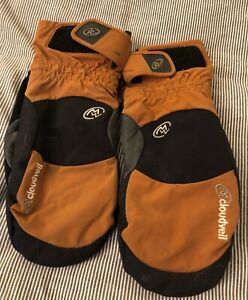 Cloudveil Skiing Mittens gloves, men's Large, insulated
