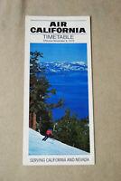 Air California Timetable - Nov 9, 1979
