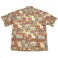 Vintage Mens Large Hawaiian Shirt Cooke Street Honolulu Short Sleeve Hawaii