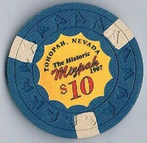 Mizpah Hotel $10.00 Error Casino Chip Tonopah Nevada