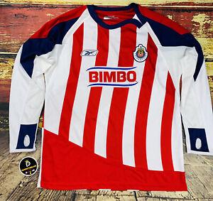 Chivas Guadalajara Soccer Jersey 2007 Authentic Reebok Long Sleeve Mens Large