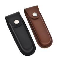 Fashion Leather Sheath Pocket for Folding Knife Multi Tool Case Pouch Holster
