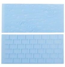 TREE BARK/WOOD GRAIN-BRICK WALL MOULD-ICING IMPRESSION MAT-CHOCOLATE MOLD-CAKE