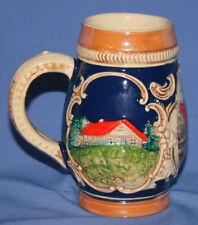 Vintage German Beer Glazed Pottery Stein Mug