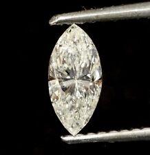 loose EGL certified marquise .55ct diamond I1 I Natural fancy cut estate