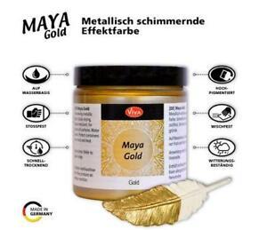 Maya Gold VIVA DECOR verschieden Farben metalic glitzer 45 ml Bastelfarbe