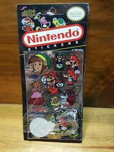 Vintage 1989 Mello Smello NINTENDO Stickers Pack Super Mario Luigi Link Peach