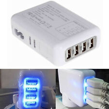 4 Port 2.4A Fast USB Wall Charger Power AC Adapter for Smart phone UK Plug White