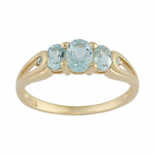 Anelli di lusso con gemme blu ovale in oro giallo